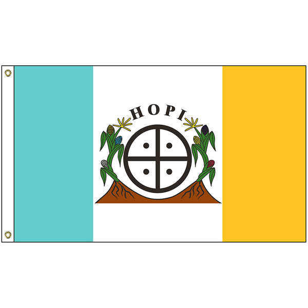 *TEMPORARILY OUT OF STOCK* HOPI NATION FLAG  3'X5' Flag- Rough Tex ®100D