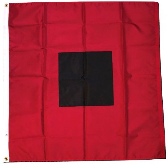 Hurricane Warning 3'X3' Flag ROUGH TEX® 100D