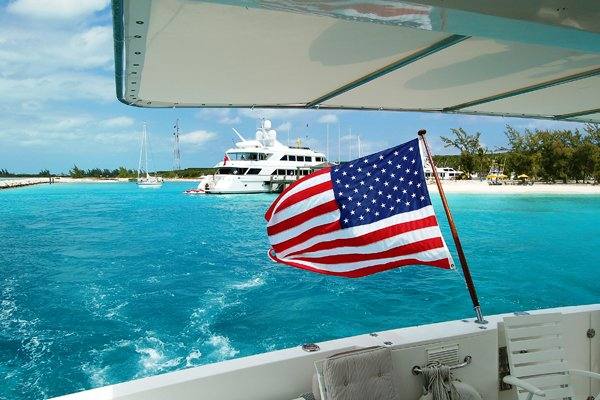 American Boat Flag 12x18in Poly