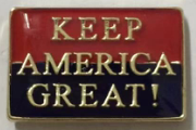 KEEP AMERICA GREAT! Red and Blue- Cloisonne Hat & Lapel Pin