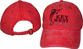 KEY WEST CAP RED WASHED FADED MARLIN