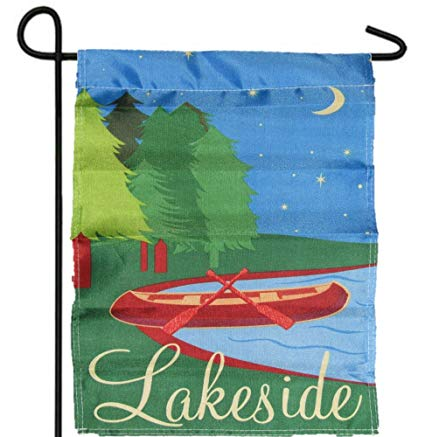 Lakeside Canoe Printed Garden Flag Rough Tex ® Brand