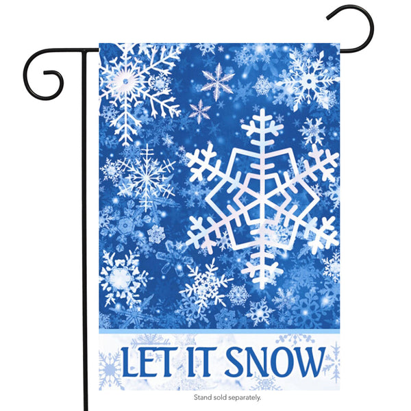 Let It Snow Winter Printed Garden Flag Rough Tex ® Brand