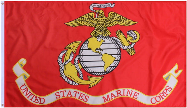 "USMC US Marines U.S. Military 12""x18"" Inches Boat Flags 150D Flag Rough Tex ®Double Sided Expertly Printed"
