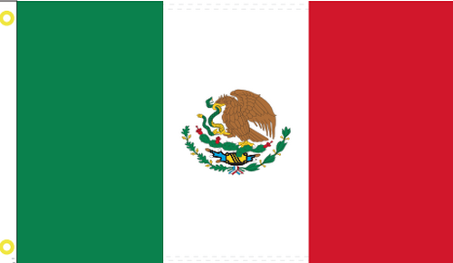 Mexico 3'X5' Flag Rough Tex® 100D