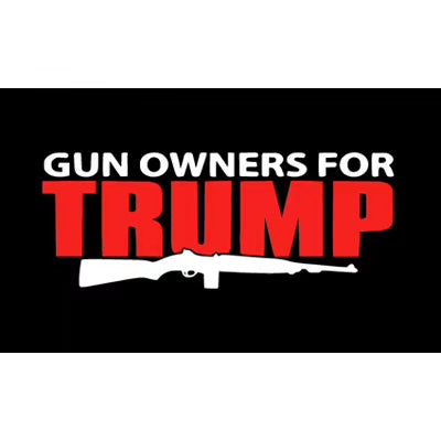 Gun Owners For Trump Red Rifle 3'X5' Flag Rough Tex® 100D