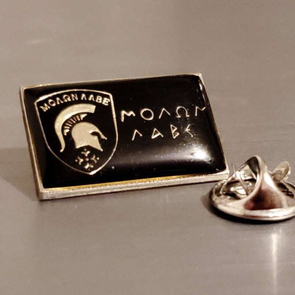 MOLON LABE RECTANGLE Cloisonne Lapel Pins