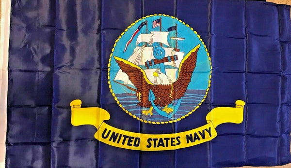 Navy U.S. Military 2'x3' Feet 150D Flag Rough Tex ®Double Sided Expertly Printed