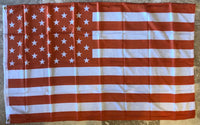 Orange & White USA 3'x5' 100D Flag Rough Tex ®