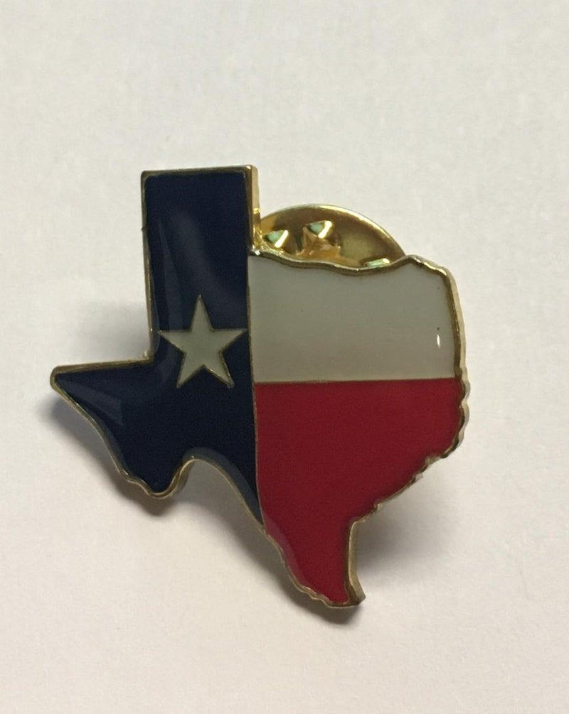 TEXAS FLAG MAP TX FLAGS Cloisonne Lapel Pins