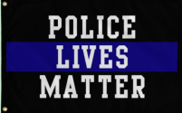 Police Lives Matter 3'X5' Flag ROUGH TEX® 100D
