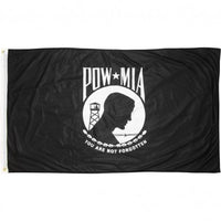 "POW MIA U.S. Military 12""x18"" Inches Boat Flags 150D Flag Rough Tex ®Double Sided Expertly Printed"