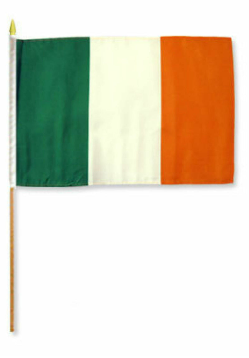 Ireland Stick Flag - 8''x12'' Rough Tex ®68D Nylon