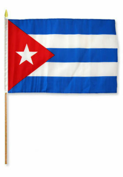Cuba - 12''x18'' Car Flag Rough Tex® 68D