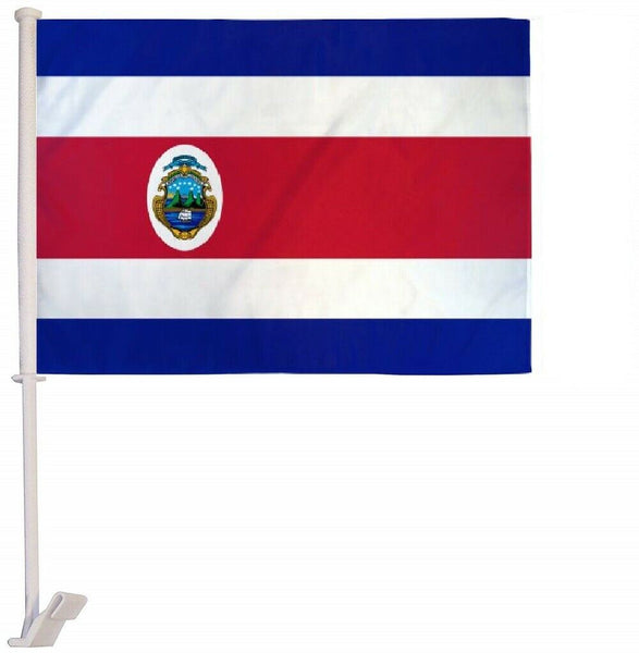 Costa Rica- 12''x18'' Car Flag Rough Tex® 68D