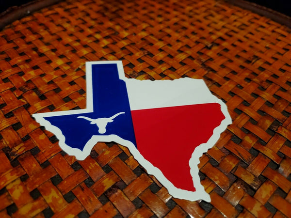 Texas Steer Map Bumper Sticker