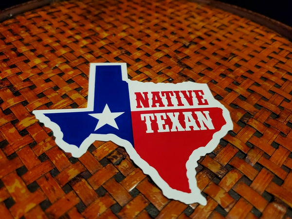Native Texan Map Bumper Sticker