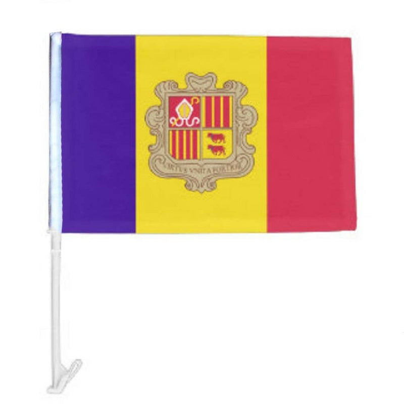 Andorra - 12''x18'' Car Flag Rough Tex® 68D