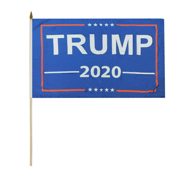 Trump 2020 Stick Flag - 8''x12'' Rough Tex ®68D Nylon