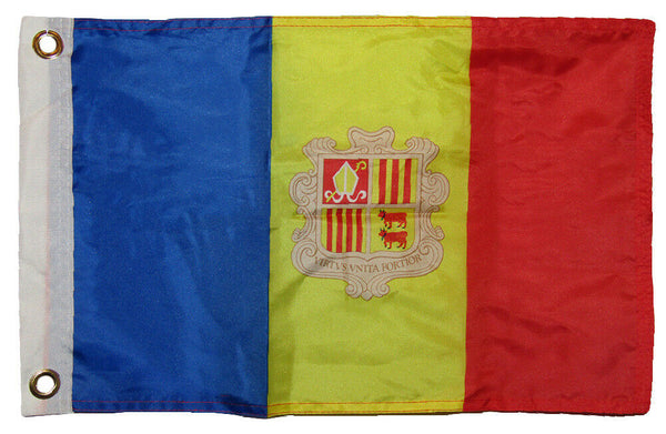 Andorra - 12''X18'' Flag With Grommets Rough Tex® 68D