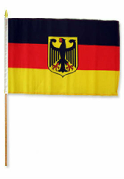 Germany Eagle Stick Flag - 8''x12'' Rough Tex ®68D Nylon