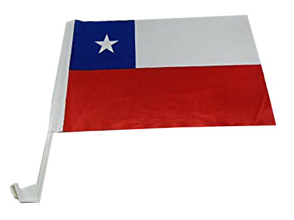 Chile - 12''x18'' Car Flag Rough Tex® 68D