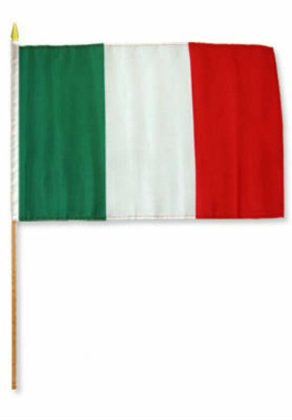 Italy Stick Flag - 8''x12'' Rough Tex ®68D Nylon