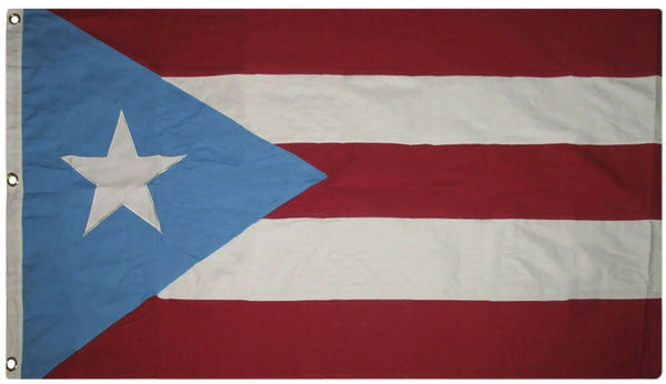 Puerto Rico Flag 3'x5' Rough Tex ® Cotton Light Blue