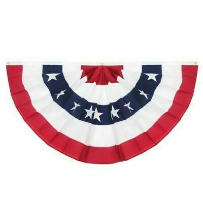 American Flag Full Fan Bunting Dura-Lite 210D 3x6 feet