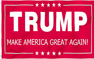 *TEMPORARILY OUT OF STOCK* Trump MAGA Red IV Campaign Single Sided Flag 3'X5' feet Rough Tex ® 68D NYLON