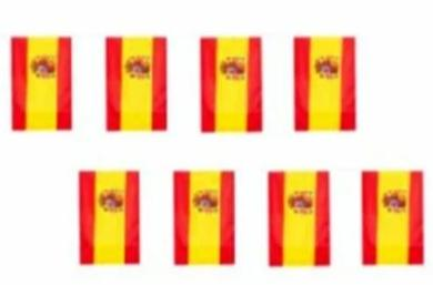 Spanish Bunting String Flag- 12''X18'' 12x18 Rough Tex® 68D