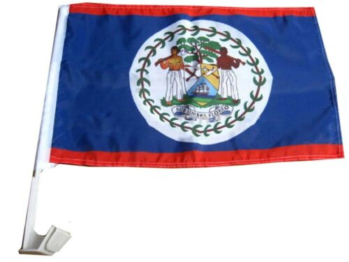Belize - 12''x18'' Car Flag Rough Tex® 68D