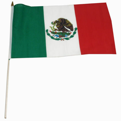 Mexico Stick Flag - 8''x12'' Rough Tex ®68D Nylon