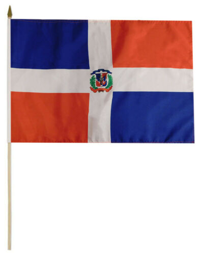 Dominican Republic Flag - 8''x12'' Rough Tex ®68D Nylon
