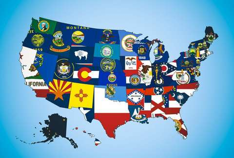 US State Flags (1 per design) 3x5 foot Dura-Last ™ Nylon Flags Buy One Get One