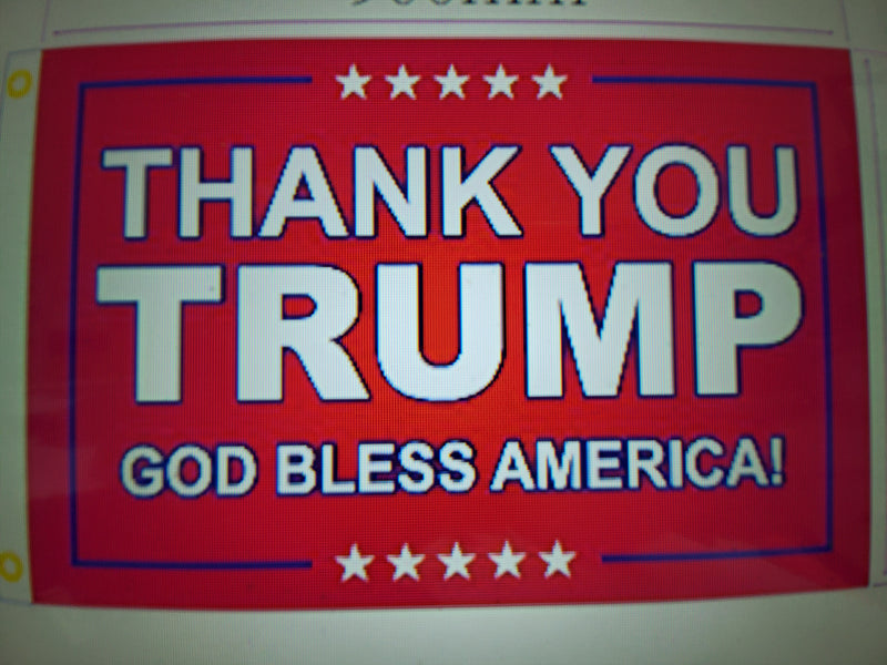 4x6 Trump GOD BLESS AMERICA 2024 Thank You President Trump 4'x6' Flag ROUGH TEX® 100D