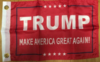 Trump IV Red 12x18 inches Boat Flags Knit Nylon Boat Flag MAGA Double Sided