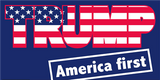 TRUMP AMERICA FIRST Campaign Flag 12x18 Inches Boat Flags 100D Rough Tex ®DOUBLE SIDED