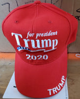 Trump for President USA flag 2020 Hat Cap - Official President Trump Embroidered Collectors Item Red