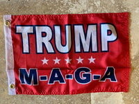 Trump M A G A Flag with Grommets Double Sides- 12x18 Rough Tex® 100D