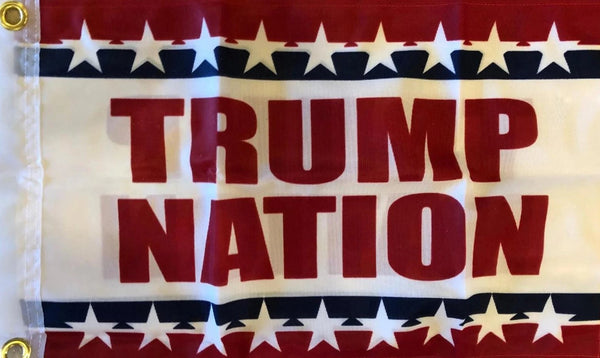 Trump Nation Double Sided Flag - 12''X18'' Knit