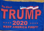 Reelect Trump 2020 (KAF)  - 12''x18'' Rough Tex ®100D Stick Flag