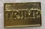 TRUMP Gold Cloisonne Hat & Lapel Pin