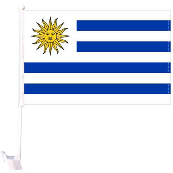 *TEMPORARILY OUT OF STOCK* Uruguay - 12''X18'' Car Flag 68D