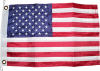 USA 16x24 inches Boat Flags Dura-Lite ™ 300D Nylon American Flags Boat Flag Embroidered