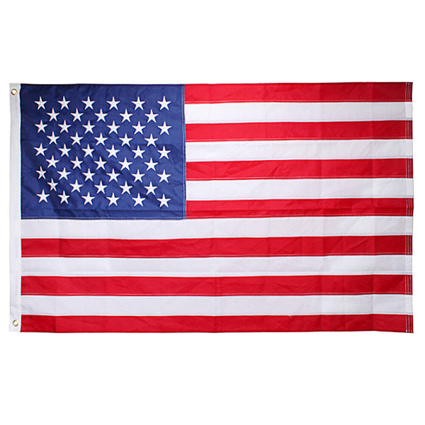 USA 5x8 foot Embroidered Rough Tex ® 210D Nylon American Flags