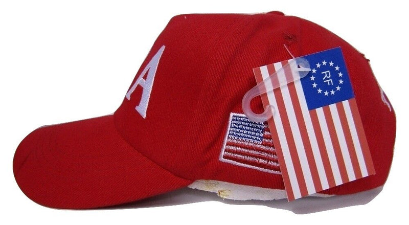 RED USA TRUMP 45 USA FLAG 100% COTTON TWILL OFFICIAL CAPS 45TH PRESIDENT HATS