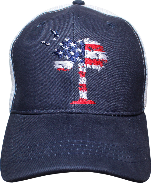 South Carolina American Flag Theme Cap