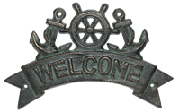Welcome Anchor Sign Cast Iron