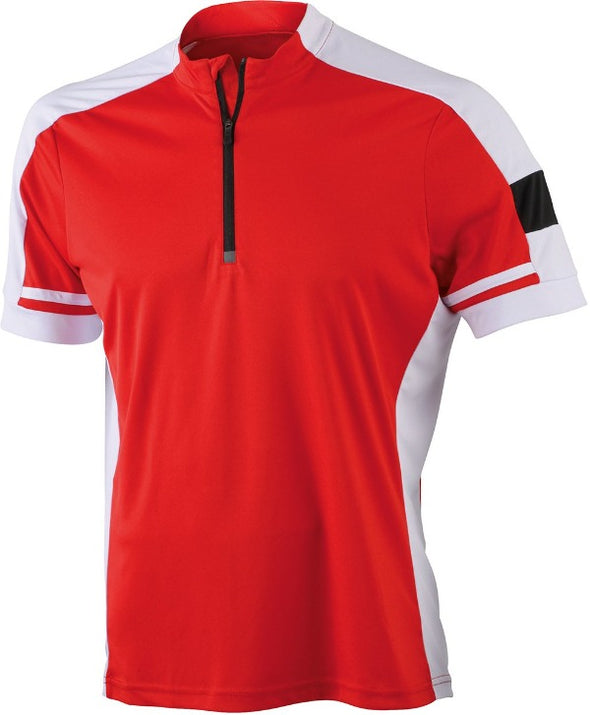 M's Bikewear Short Sleeve Performance Half Zip James & Nicholson